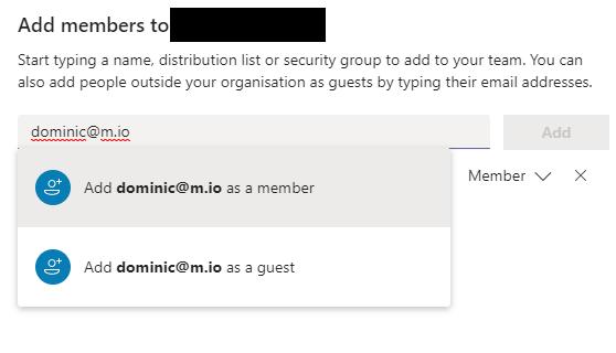 Add a member or guest in Microsoft Teams