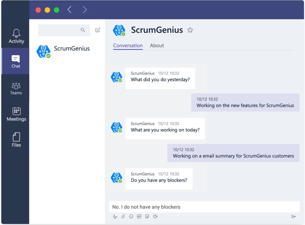 ScrumGenius Microsoft Teams bot