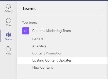 Channel Microsoft Teams